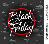 abstract vector black friday... | Shutterstock .eps vector #732404266