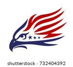 american eagle patriotic logo | Shutterstock .eps vector #732404392