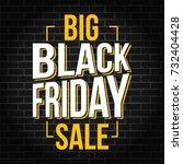 abstract vector black friday... | Shutterstock .eps vector #732404428