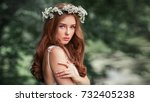 Beautiful Red Haired Girl In...