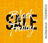 abstract vector black friday... | Shutterstock .eps vector #732406012