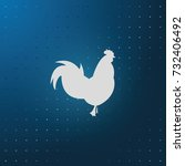 simple flat rooster icon. the... | Shutterstock .eps vector #732406492