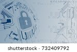 protection concept. protect... | Shutterstock .eps vector #732409792