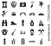 rest by the fire icons set.... | Shutterstock . vector #732412498