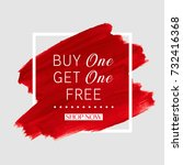 buy 1 get 1 free sale text over ... | Shutterstock .eps vector #732416368