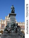 krakow poland 09 13 17  adam... | Shutterstock . vector #732419878
