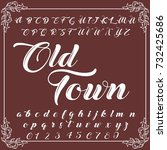 vector set of handwritten abc...   Shutterstock .eps vector #732425686