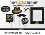 set of thirty birthday...   Shutterstock .eps vector #732426376