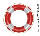 red lifebuoy isolated over... | Shutterstock .eps vector #732431602