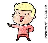 cartoon man laughing | Shutterstock .eps vector #732432445