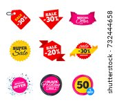 sale banners templates. best... | Shutterstock .eps vector #732444658