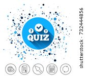 button on circles background.... | Shutterstock .eps vector #732444856