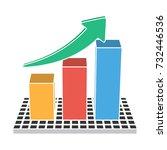 statistics icon | Shutterstock .eps vector #732446536