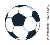 football icon | Shutterstock .eps vector #732452242