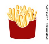 french fries icon | Shutterstock .eps vector #732452392