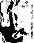 marbling  ebru  suminagashi.... | Shutterstock .eps vector #732457756
