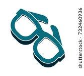 sunglasses flat icon   Shutterstock .eps vector #732460936