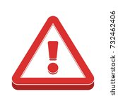hazard warning  flat icon | Shutterstock .eps vector #732462406