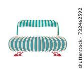 sofa icon | Shutterstock .eps vector #732462592