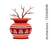 vase flat icon   Shutterstock .eps vector #732463048