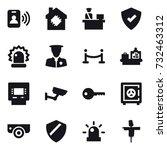 16 vector icon set   pass card  ... | Shutterstock .eps vector #732463312