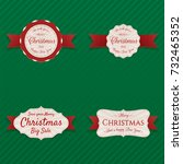 christmas labels with red...   Shutterstock .eps vector #732465352