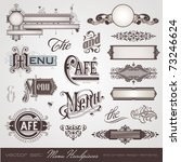 vector set  menu headpieces ... | Shutterstock .eps vector #73246624