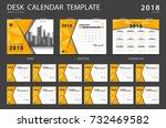 desk calendar 2018 template.... | Shutterstock .eps vector #732469582