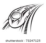 rapid train   Shutterstock .eps vector #73247125