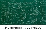 close up of math formulas on a... | Shutterstock . vector #732475102
