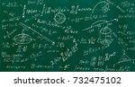 close up of math formulas on a... | Shutterstock . vector #732475102