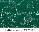 close up of math formulas on a... | Shutterstock . vector #732476182