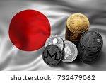 stack of bitcoin  ethereum ... | Shutterstock . vector #732479062