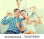 family values  portrait of...   Shutterstock . vector #732479392