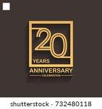 20 years anniversary... | Shutterstock .eps vector #732480118