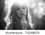 Young Woman Outdoors Portrait....