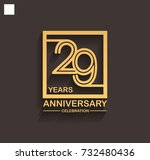 29 years anniversary... | Shutterstock .eps vector #732480436