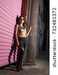 women portrait downtown | Shutterstock . vector #732481372