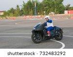 the honda's instructor riding...   Shutterstock . vector #732483292