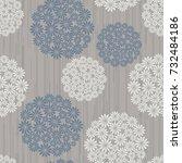 seamless floral pattern.... | Shutterstock .eps vector #732484186