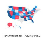 united states of america... | Shutterstock .eps vector #732484462
