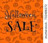 halloween sale. vector... | Shutterstock .eps vector #732488272