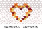 jigsaw colorful puzzle vector... | Shutterstock .eps vector #732492625