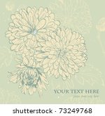 background with blooming... | Shutterstock .eps vector #73249768