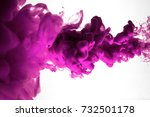 purple ink in water isolated on ... | Shutterstock . vector #732501178