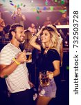 flying colours against friends...   Shutterstock . vector #732503728