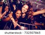 flying colours against portrait ...   Shutterstock . vector #732507865