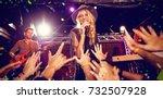 flying colours against singer... | Shutterstock . vector #732507928