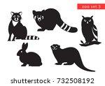zoo animals vector logo icon... | Shutterstock .eps vector #732508192