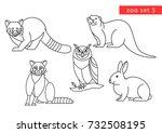 zoo animals vector logo icon...   Shutterstock .eps vector #732508195
